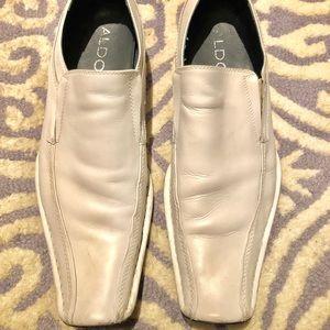 Aldo white leather men's shoes